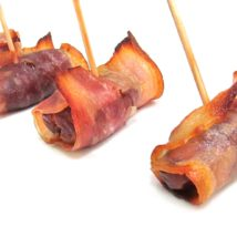 Datiles con bacon.